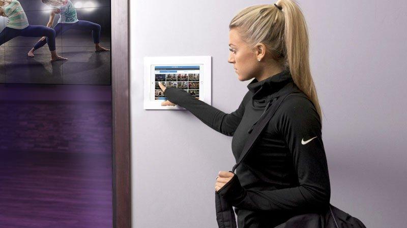 Interactive Virtual Player Kiosk in Gym