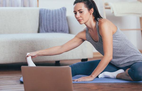 Zoom virtual fitness classes